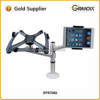 Desk clamp mount dual adjustable flexible laptop stand