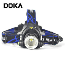 Best Aluminium XML T6 Rechargeable Head Torch Camping Super Bright Headlamp