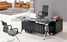 high end executive desk with metal panel/office furniture