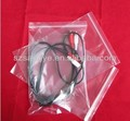 clear earphone PE bag with zipper