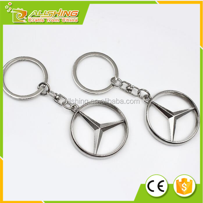 Wholesale Promo Volvo car logo metal key chains/ Benz Car logo key chains/Best quality car logo key chains
