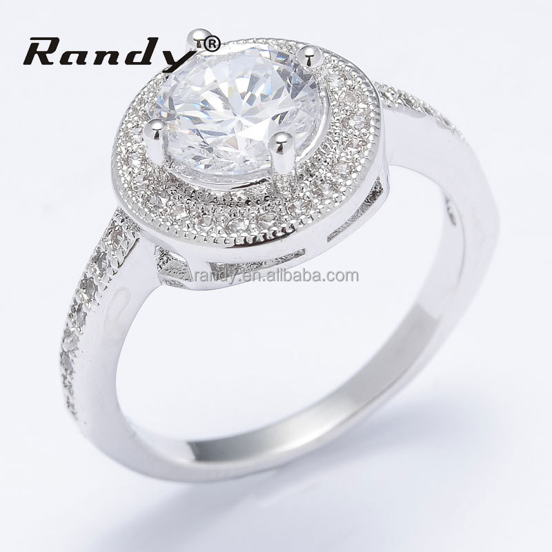 Sample Silver Cubic Zircon Wedding Finger Ring For Girls Design Jewellery