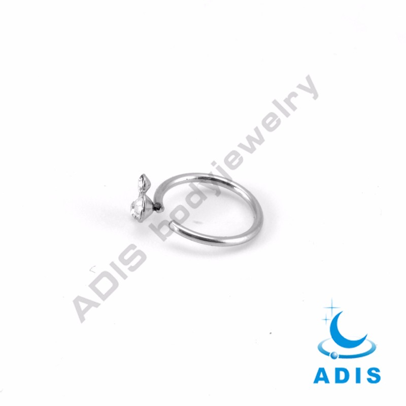 Latest stainless steel nose ring silver body piercing jewelry wholesale