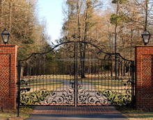 cast iron pedestrian simple gate design black security entrance house main gate