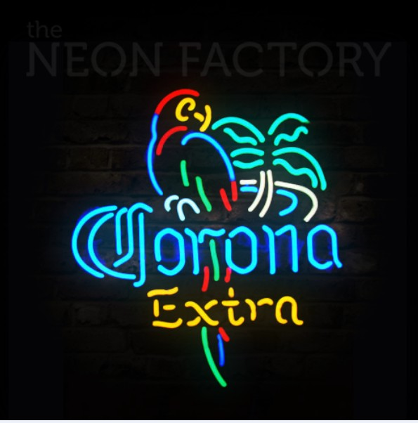 extremely bright led corona BEER led neon sign with acrylic backplate, #Shanghai Liyu-12V-CoroSign