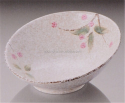 promotional good sale hand-printing ceramic big salad bowl