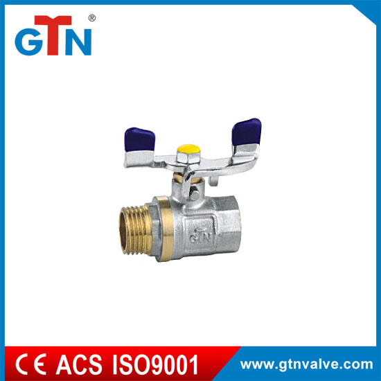 Professional manufacturer M/F brass butterfly handle 3/4'' ART250V-C cw617n ball valve