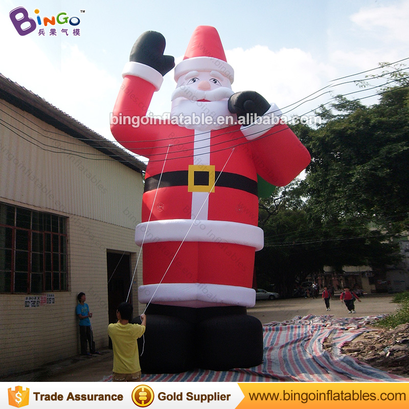 Stangding inflatable santa claus balloon for christmas ornament