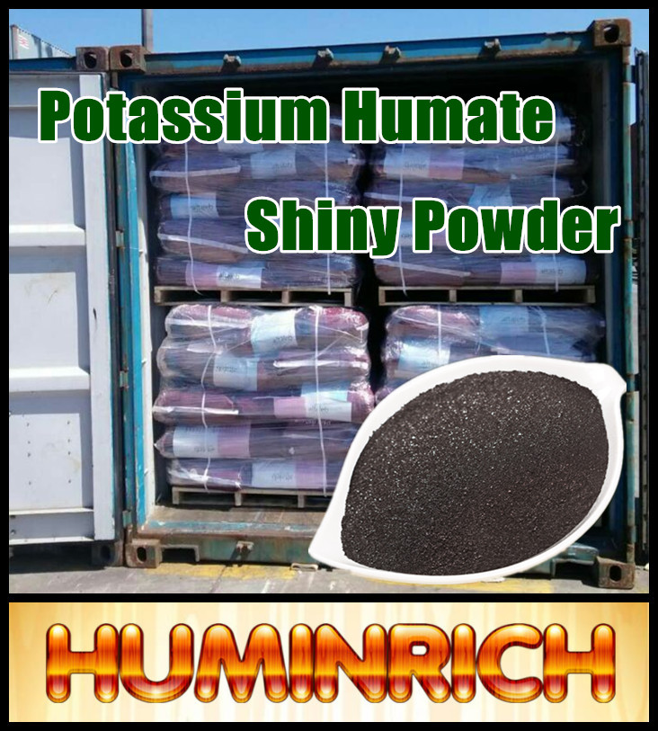 Huminrich Foliar Spray Solubility SH9004-14 Super Potassium Humate Shiny Powder