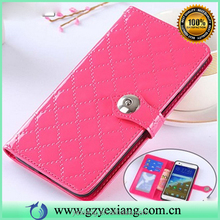 Low price China mobile phone accessories leather flip cover for LG optimus zone 3 leather wallet stand case with card slots