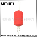 Best sale red 1 inch Silicone Tattoo Disposable Grip Rubber grip tube plastic grip new