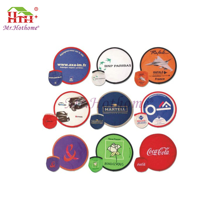Professional cheap fashionable polyester custom wholesale foldable frisbee with a pouch