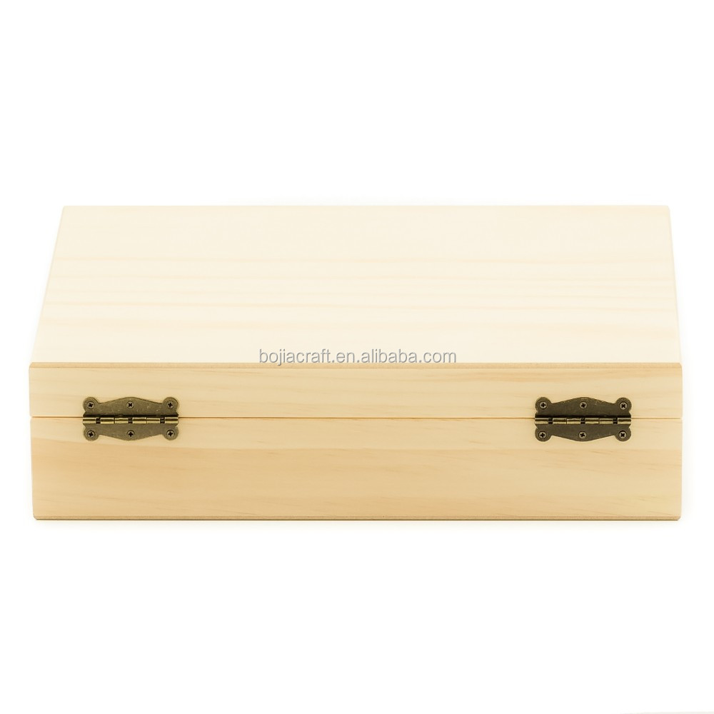 Custom pine bamboo timber wooden display essential oil packaging storage box