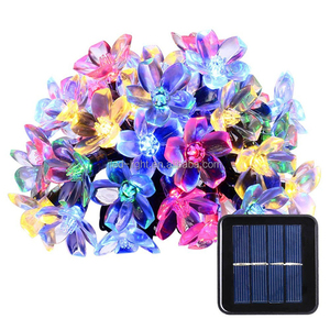 50 Leds Christmas Led Flower Tree Light Blossom Lights Christmas Solar Light for Outdoor LED Garland Patio Party Wedding