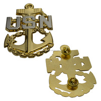 Custom Metal Military Badge USN Anchor Lapel Pin Maker