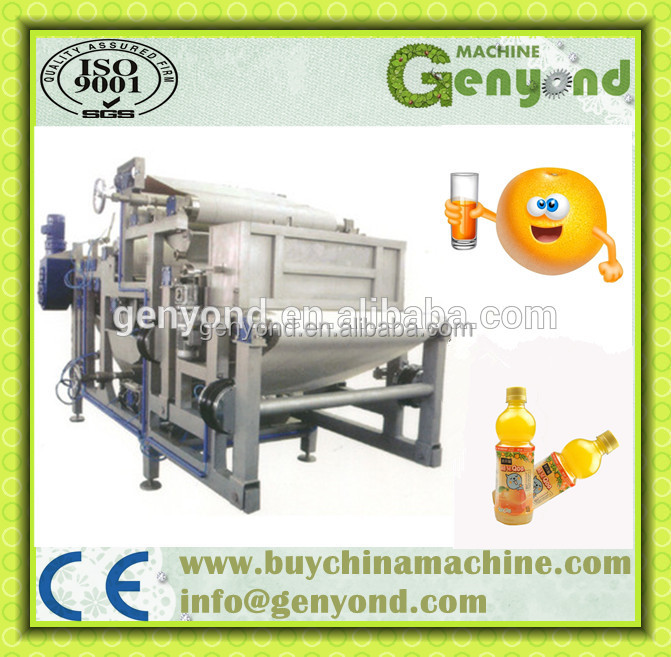 CE approved belt press machine for apple