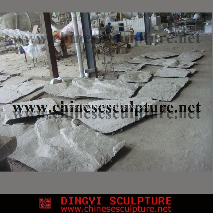 artificial rock stone panel for huge outdoor rock work and waterfall