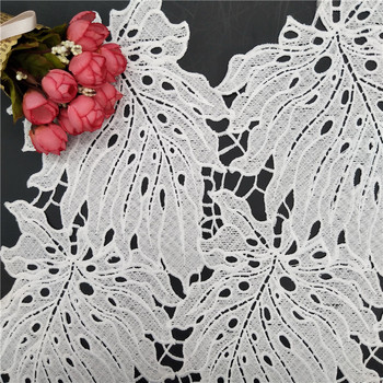 Design Lace Garment Chemical Lace Guipure Cord Leaf Lace Fabric