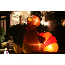 outdoor decoration inflatable turkey with led light