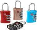Customized printing and package 3 digital zinc alloy TSA luggage lock