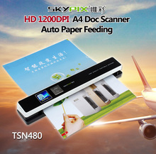 "Handyscan 1200DPI Rechargerable 1.44"" Preview Skypix TSN431 TSN480 Portable Scanner Handheld Scanners"