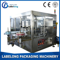 Square bottle Automatic Hot melt glue /Roll Fed labeling machine