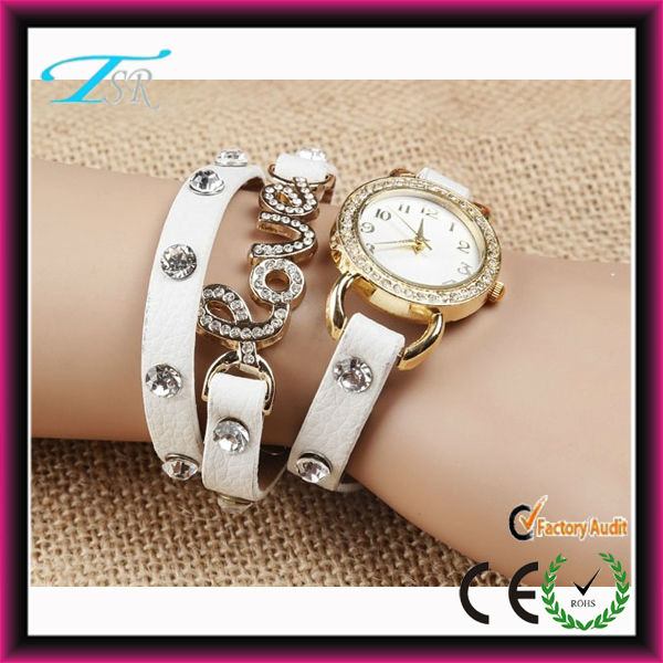 Mini face metal vogue lady's bracelet leather hot sale beauriful girls watch