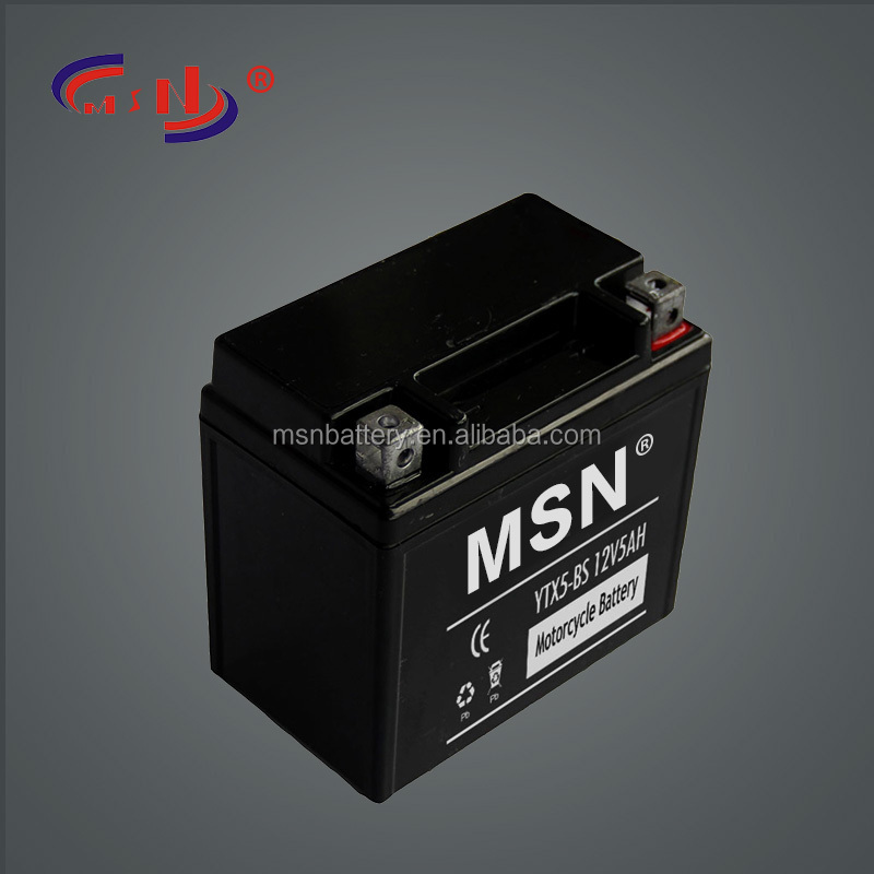 YTX5-BS motorcycle battery lead acid battery manufacturing in guangzhou