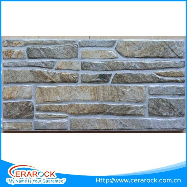 Natural Stone Like Brick Decorative Ceramic Exterior Wall Tile 30X60 Size