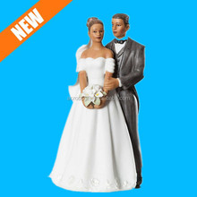 African American Wedding Cake Topper Porcelain