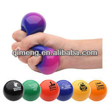 promotional stress reliever ball with logo printed