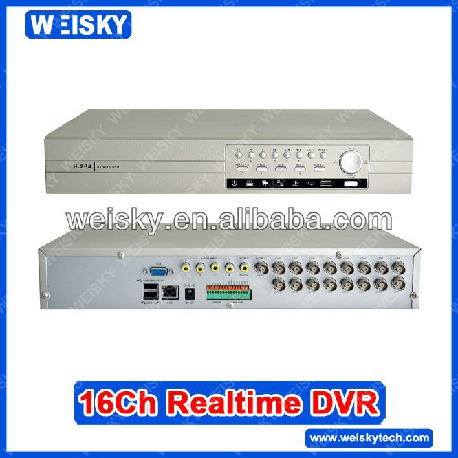 WEISKY 16 channel dvr+Support 2ch Full D1 realtime + 6ch Full CIF realtime recording resolution
