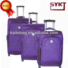 2012 purple jacquard ladies wholesale beauty leisure fashion eminent rolling trolley case
