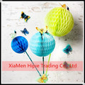 Mix 3 Mini Sizes 2'' 4'' 6'' Tissue Paper Honeycomb Balls Wedding Hanging Decorations