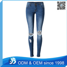 Factory Price Ripped Sexy Girls Jeans Brand Name