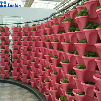Factory supply cheap Indoor color plastic plant flower pots for sale