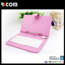 tablet pc leather keyboard case for iphone 5c bluetooth keyboard case-BK510B-Shenzhen Ricom