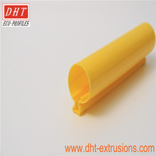High quality orange extruded plastic pvc and upvc profile