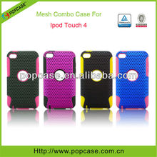 [2013 lastest design]2in1 hybrid cases for ipod touch 4 cover