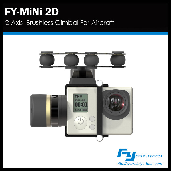 Feiyu drone gimbal FY MINI 2D 2-Axis Gimbal for Aircraft Helicopters Drone Gopro Hero 3+ 4 Camera/mini gimbal