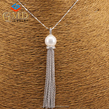 Global glaze new products elegant handcrafted sterling silver tassel pendant