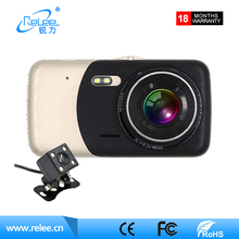 Hot Selling 2ch camera 4.0inch Display night vision car dvr full hd 1080p dual car camera