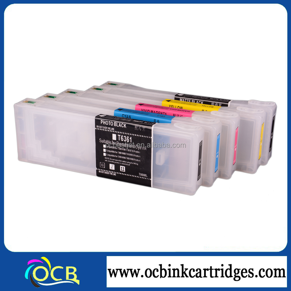 Top Quality!!! For Epson 7890 9890 9908 Refillable ink Cartridges in 9 colors
