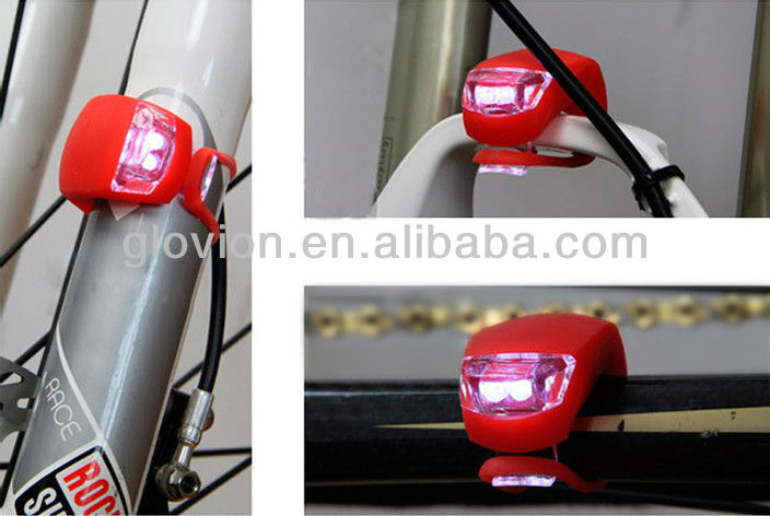 2 Led luminous bike lights modern led bicycle front light for mountain bike