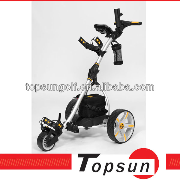 scorecard holder&umbrella holder electric remote control golf trolley
