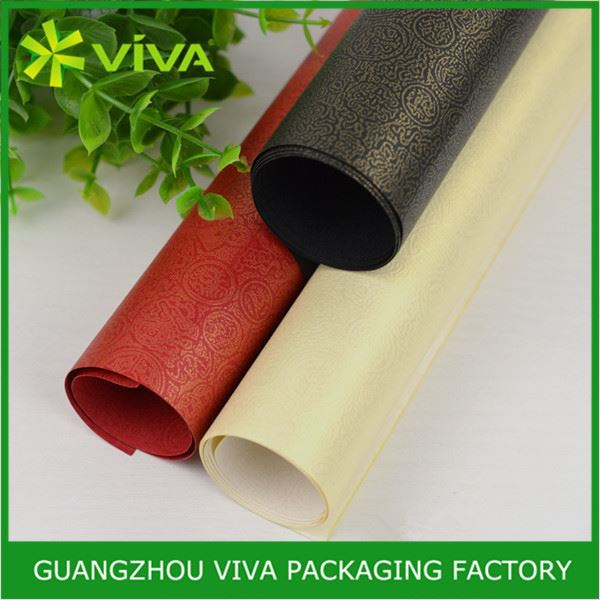 Disposable Hot Stamping Printing black christmas wrapping paper