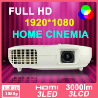 Home Theater Business Education 1080p full HD 1920x1080 multimedia 3D RGB LED Projector Proyector Beamer