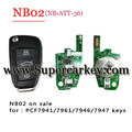NB02 3 button remote key with NB-ATT-36 model for KD900 machine