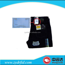 RFID clothing labels and hang tags RFID jeans labels and tags RFID clothing price tag label