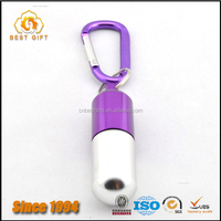 High quality zinc alloy cachet shape pill box keychain